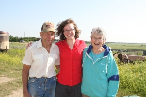 Lina with Grandpa and Grandma Taylor